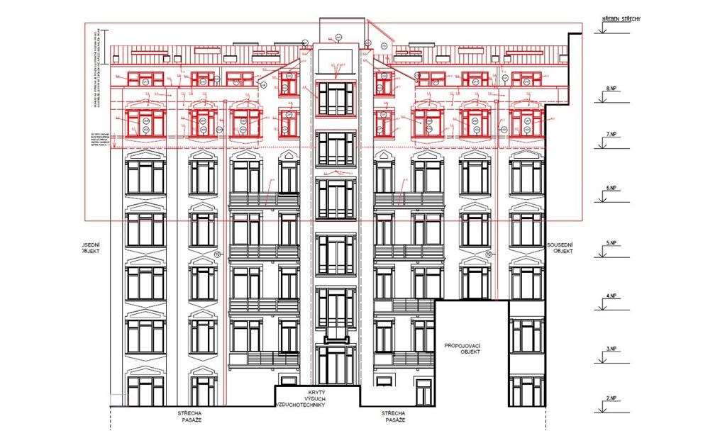 Rekonstrukce části Paláce Lucerna – Praha 1